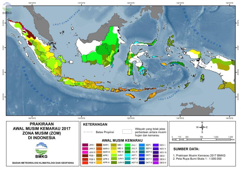 Prakiraan Musim Kemarau 2017 di Indonesia  BMKG