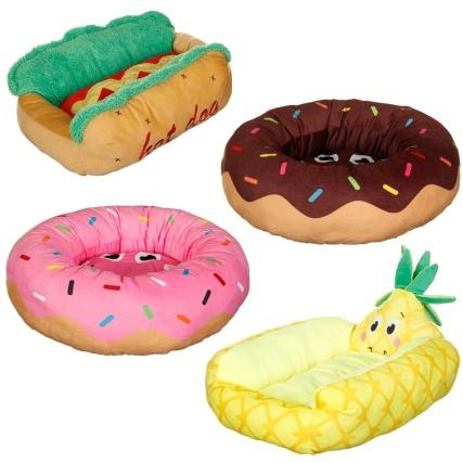 Funky Food Pet Bed Hot Dog Pets Cat Amp Dog Beds B Amp M