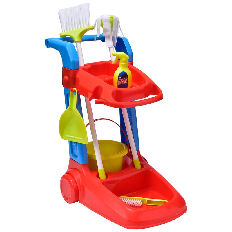play pretend cleaning trolley
