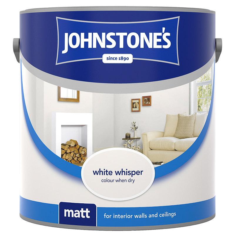 Johnstone S Matt Emulsion White Whisper 2 5l Paint Diy