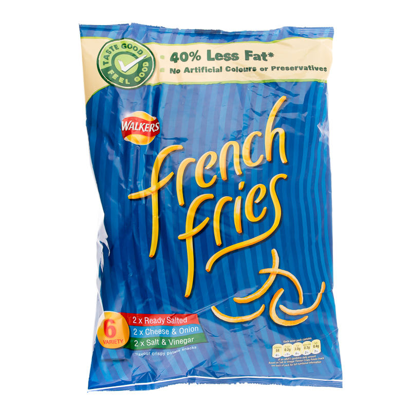 kitchen gadget gifts cabinet unit walkers french fries 6pk | crisps, snacks, groceries