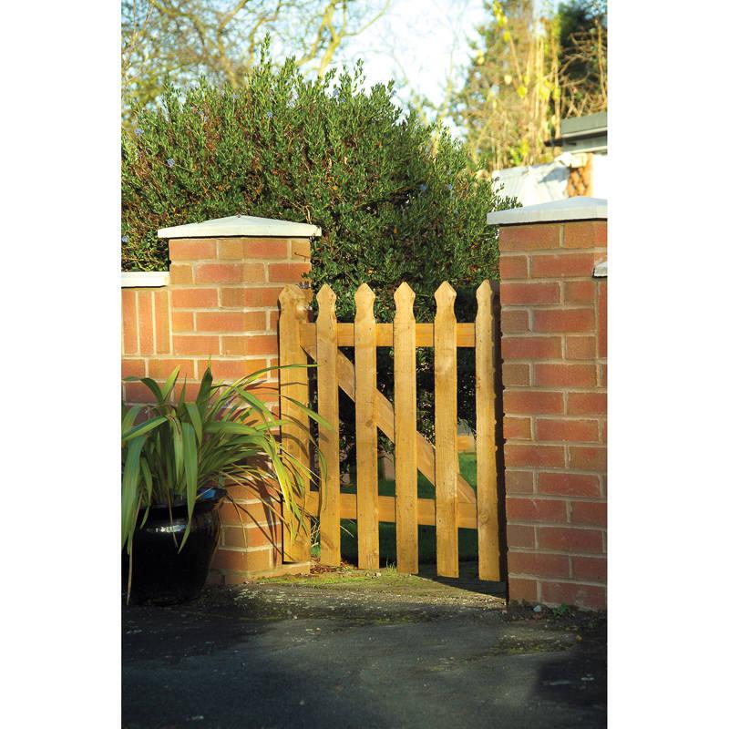 Palisade Tulip Gate 09 Fencing Garden Fencing