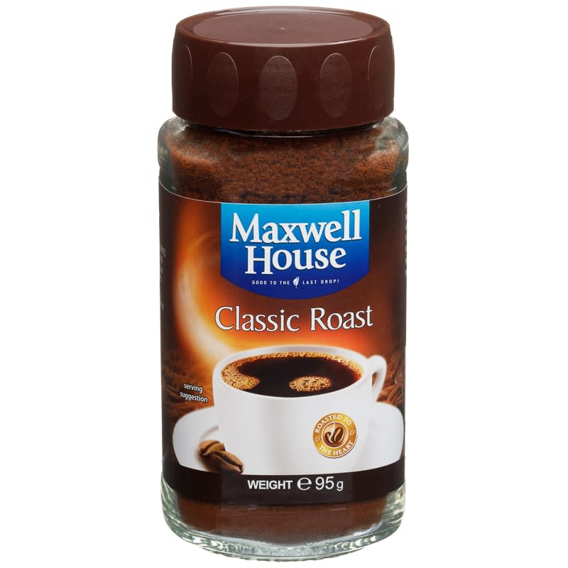 Maxwell House Classic Roast Coffee 95g  Hot Drinks  BM