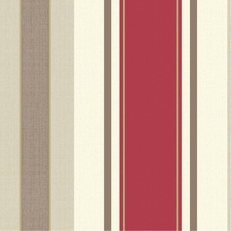 Animal Print Wallpaper Border Opera Dante Red Stripe Wallpaper Decorating Diy B Amp M