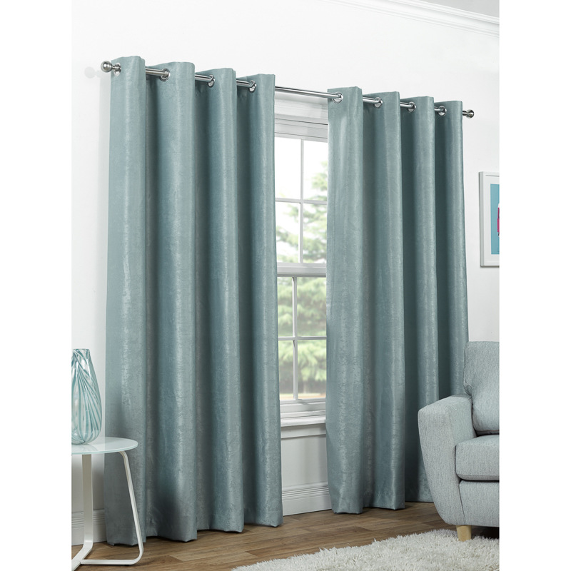 BM Valencia Textured Premium Blackout Eyelet Curtain 46 x