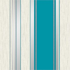 Play Kitchen For Toddler Create Your Own Vymura Synergy Stripe Wallpaper - Teal   Decorating, Diy