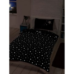Black And White Kitchen Table Paint For Cabinets Glow In The Dark Single Duvet Set - | Bedding ...
