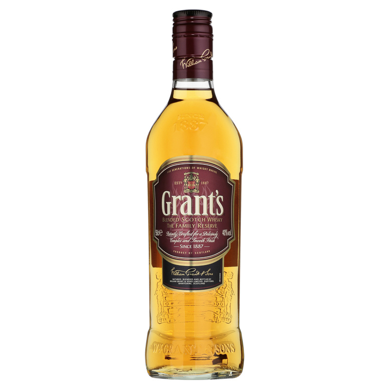 Grants Blended Scotch Whisky 50cl  Groceries  Spirits