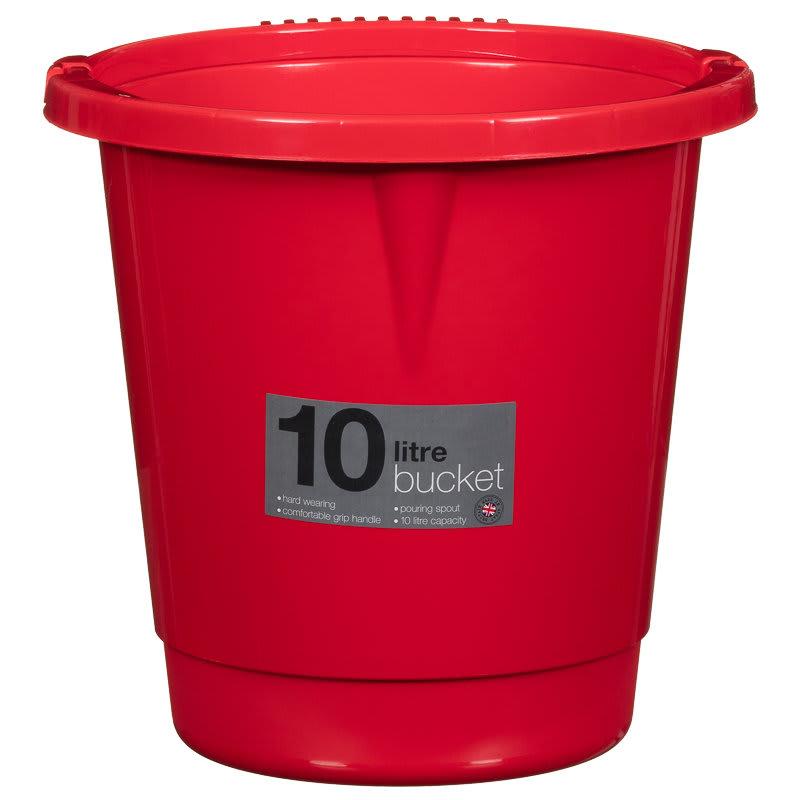 10 Litre Plastic Bucket  Household  Cleaning  BM