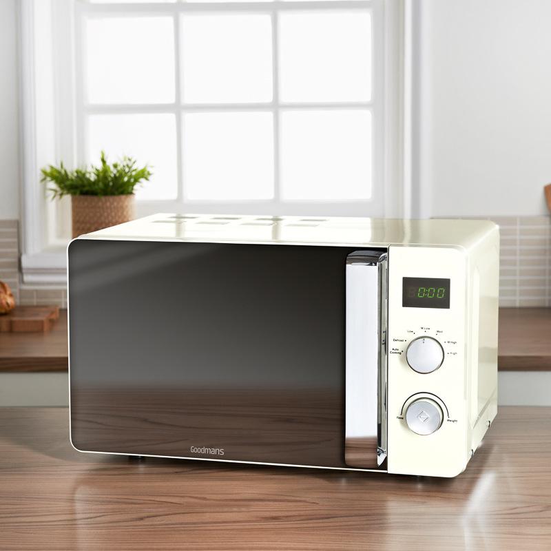 Goodmans Digital Microwave 20L  Cream  Kitchen Small