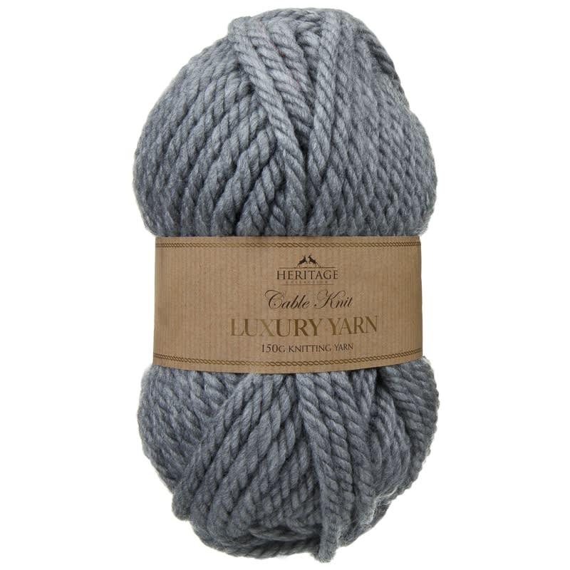 Cable Knit Yarn 150g  Grey  Knitting  Crochet