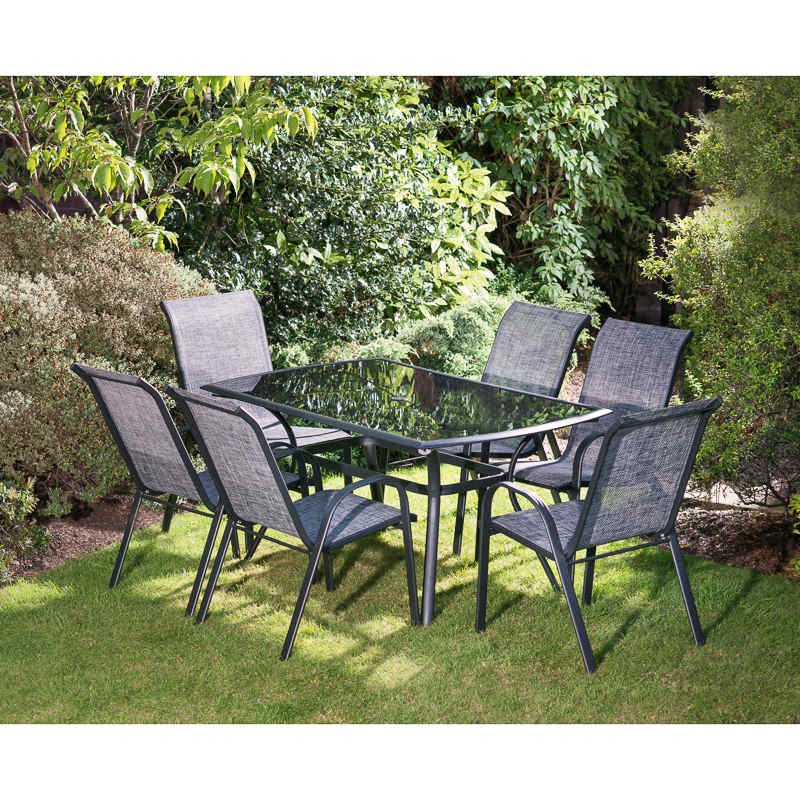 Seville Patio Set 7pc  Garden Furniture