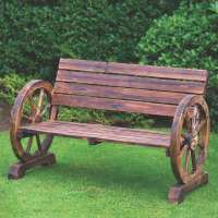 Wagon Wheel Bench 2 Seater