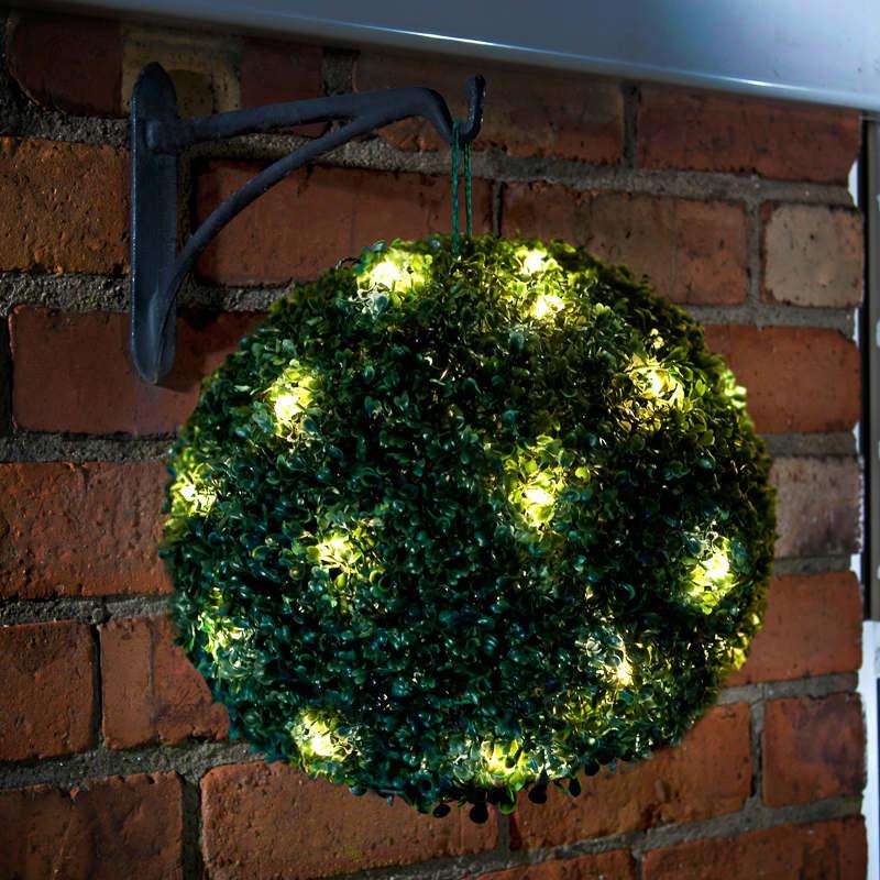 Solar Powered Topiary Ball 28cm  Garden Decorations