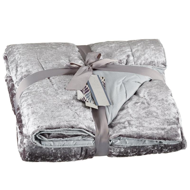 Crushed Velvet Throw Throws Amp Blankets Home