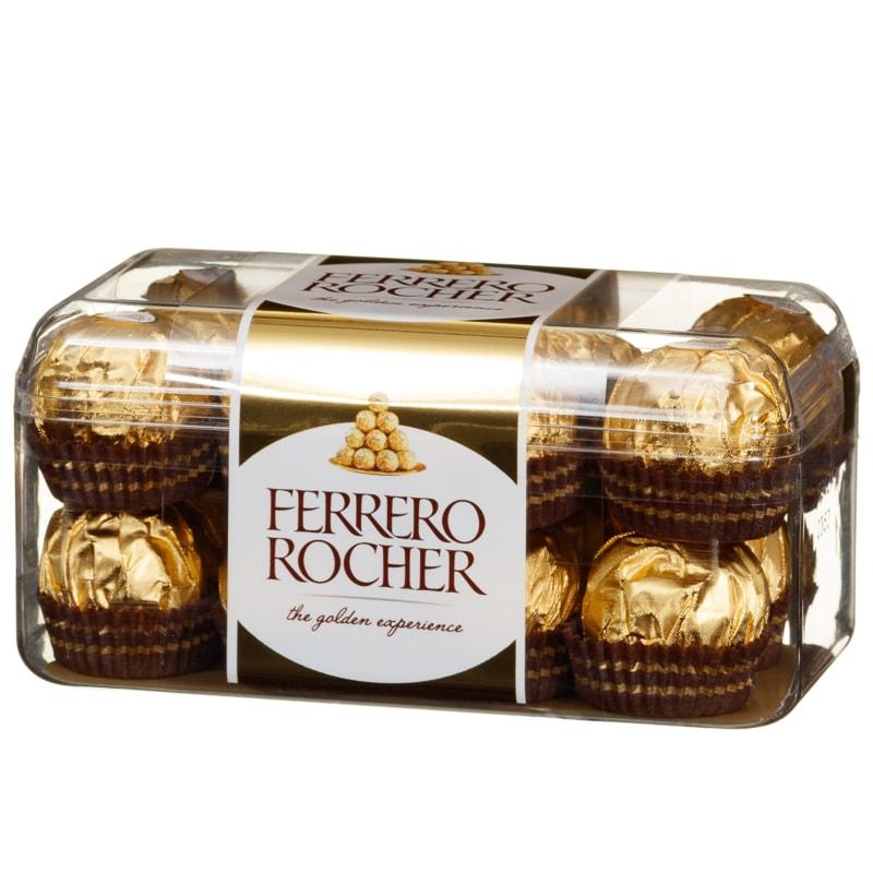Silver Animal Print Wallpaper Ferrero Rocher 16pc Box 200g Groceries Chocolate Gift