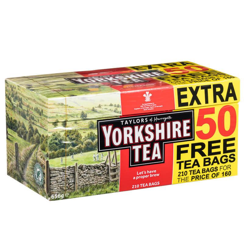 Yorkshire Tea 160s  50 Free  Tea Bags Hot Drinks