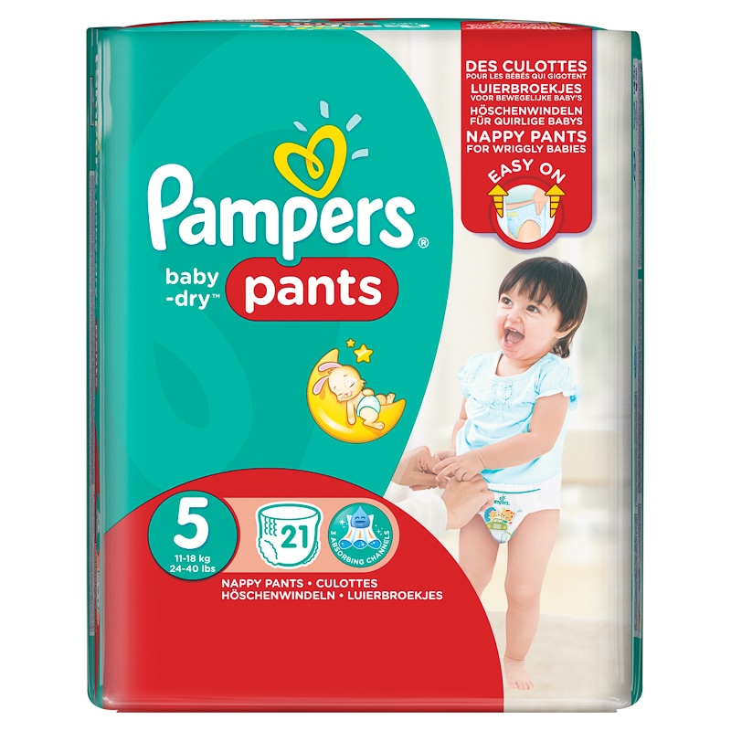 Pampers Baby Dry Nappies Carry Pack 21pk Size 5 Baby