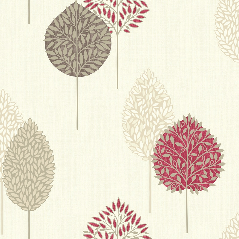 Arthouse Dante Motif Wallpaper  Red  Decorating DIY