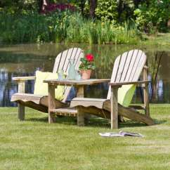 Wooden Adirondack Chair Oak Dining Table And Chairs Gumtree Lily Relax Double Seat | Garden Furniture, Seating