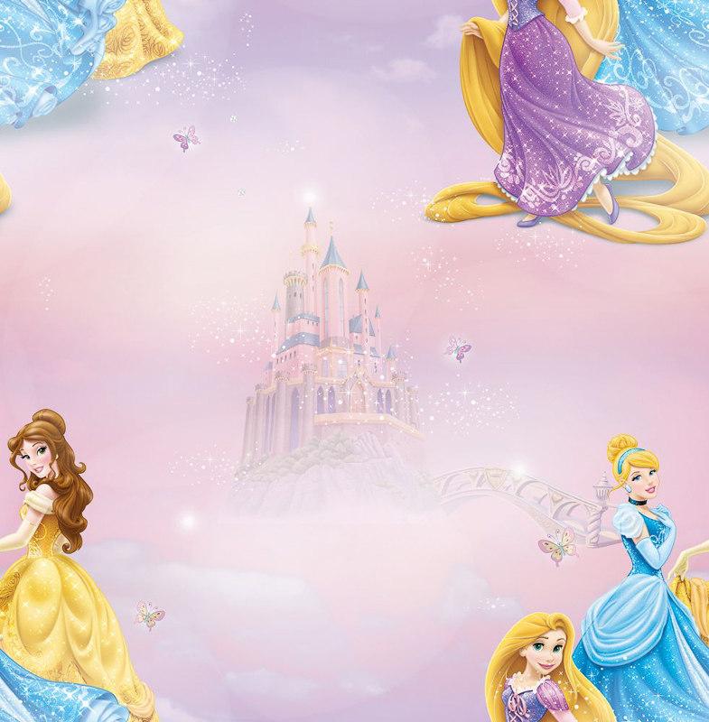 Disney Cars Wallpaper Border Uk Decofun Disney Princess Wallpaper Decorating Diy