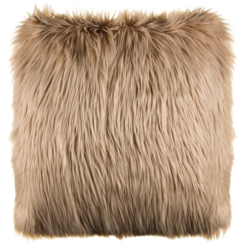 Cassie Long Faux Fur Cushion  Soft Furnishings  BM