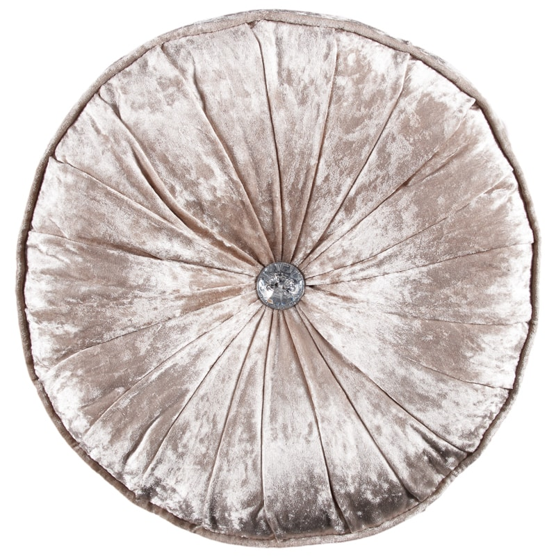 Sara Velvet Round Cushion  Soft Furnishings  BM Stores