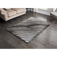 Sculptured Metallic 3D Rug - 110 x 160cm | Home Decor, Rugs