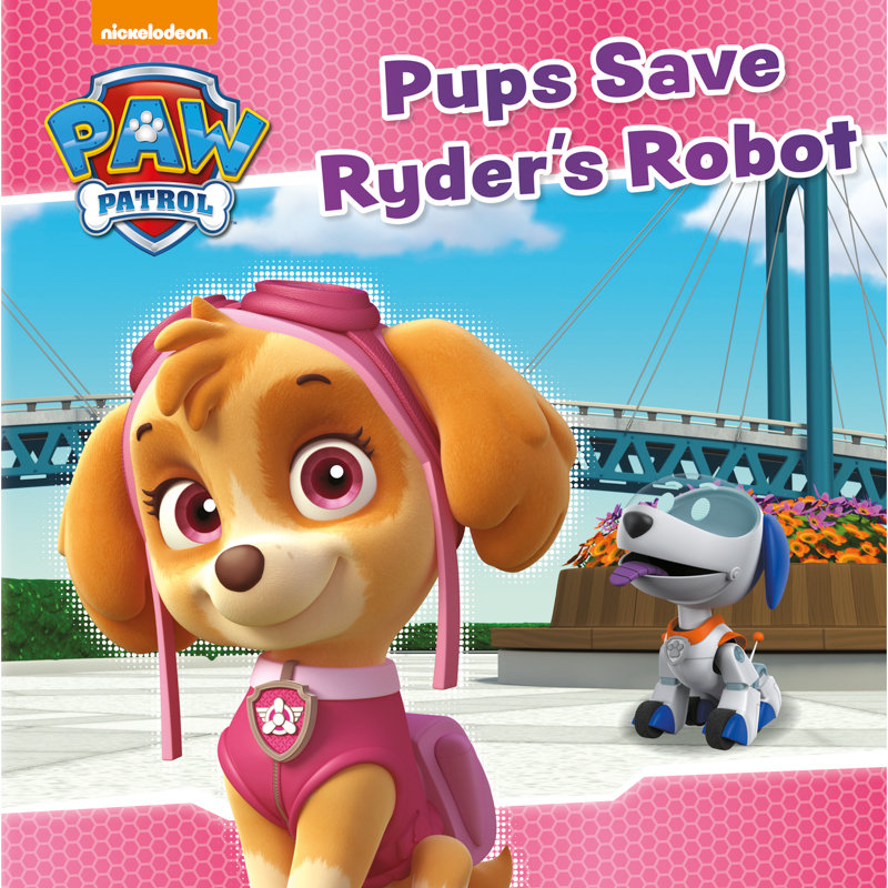 Paw Patrol Story Book  Pups Save Ryders Robot  Kids Books
