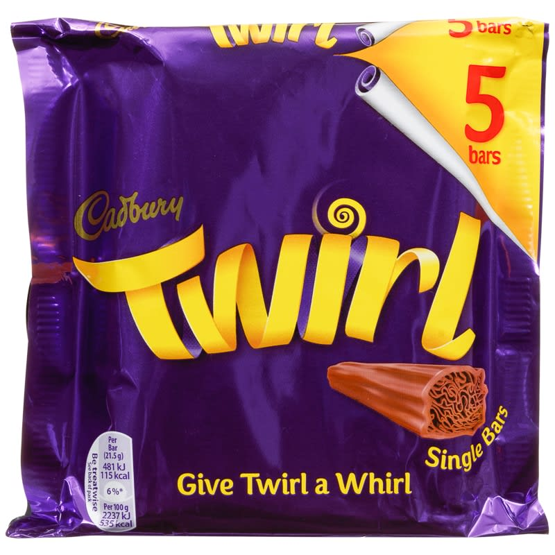 Cadbury Twirl 5pk  Chocolate Bars Chocolate Multipack