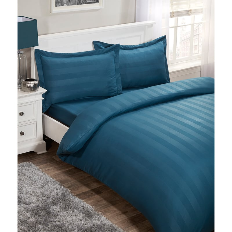 Silentnight Satin Stripe Complete Bed Set King  Bedding BM