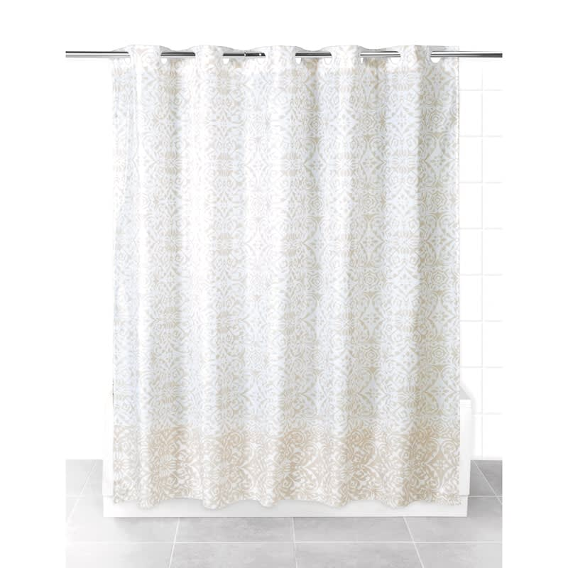 beldray hookless shower curtain natural