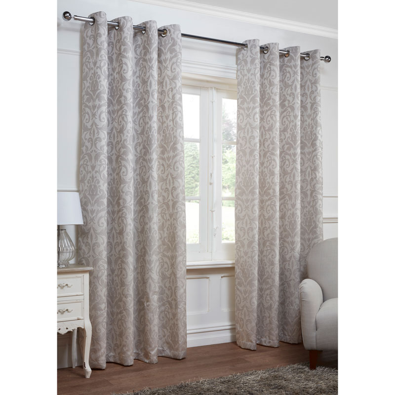Georgia Textured Leaf Fully Lined Eyelet Curtain 90 X 90
