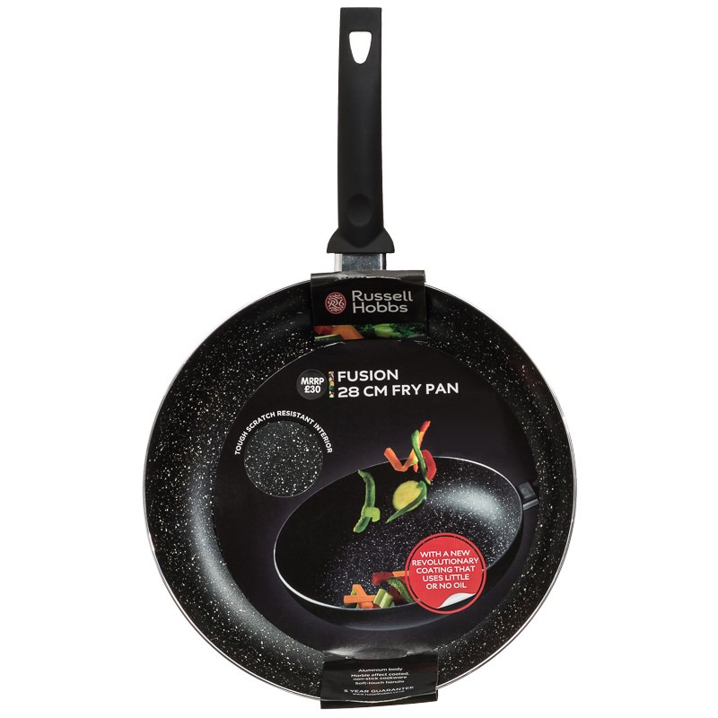 Russell Hobbs Marble Fusion Frying Pan 28cm Kitchen