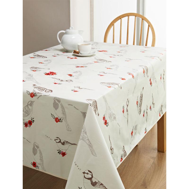 PVC Wipe Clean Tablecloth Birds Kitchen BampM