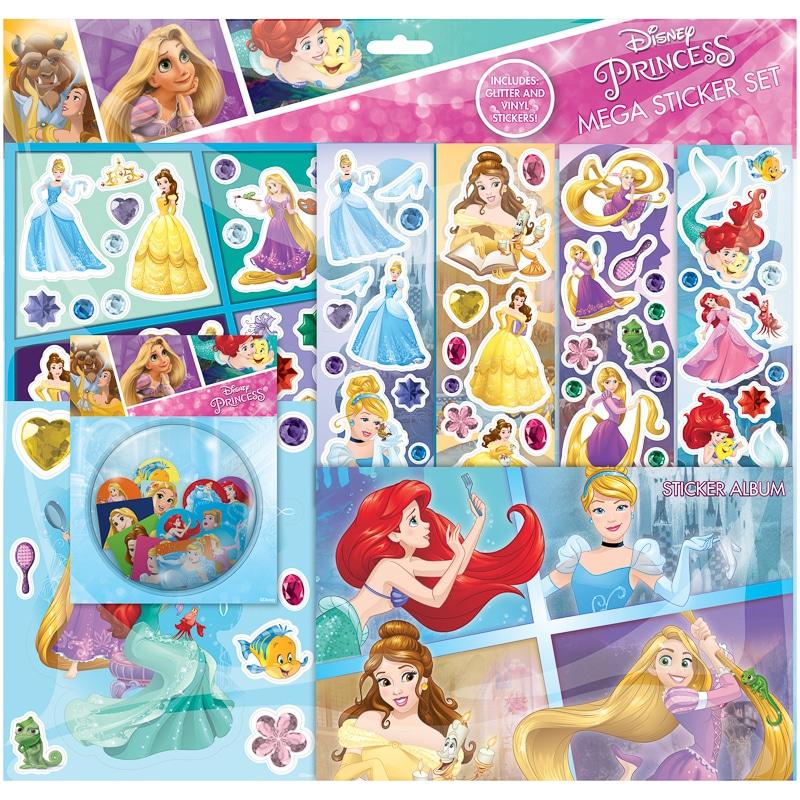 Disney Princess Mega Sticker Album Set  Kids Crafts  BM