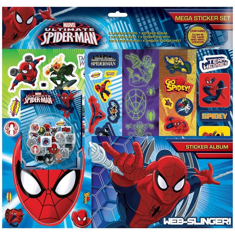 yellow kitchen rugs islands lowes spider-man mega sticker album set | toys - kids crafts b&m