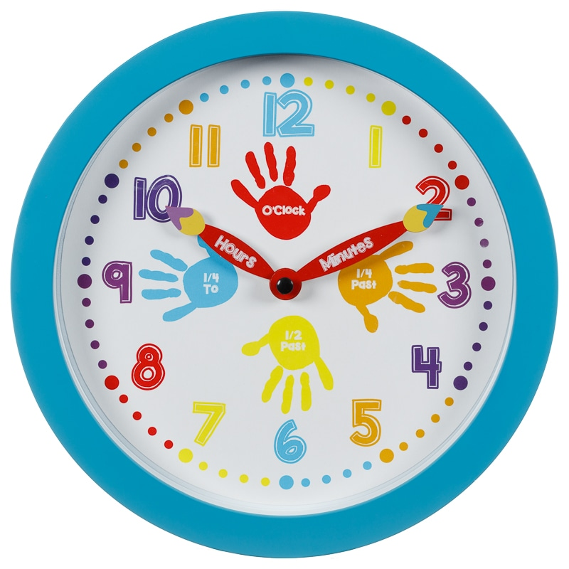 Learn to Tell the Time Clock  Blue  Home Decor  BM Stores