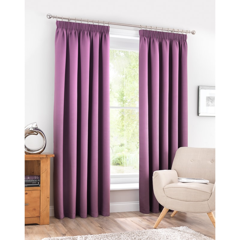 BM Valencia Textured Premium Blackout Eyelet Curtain 66 x