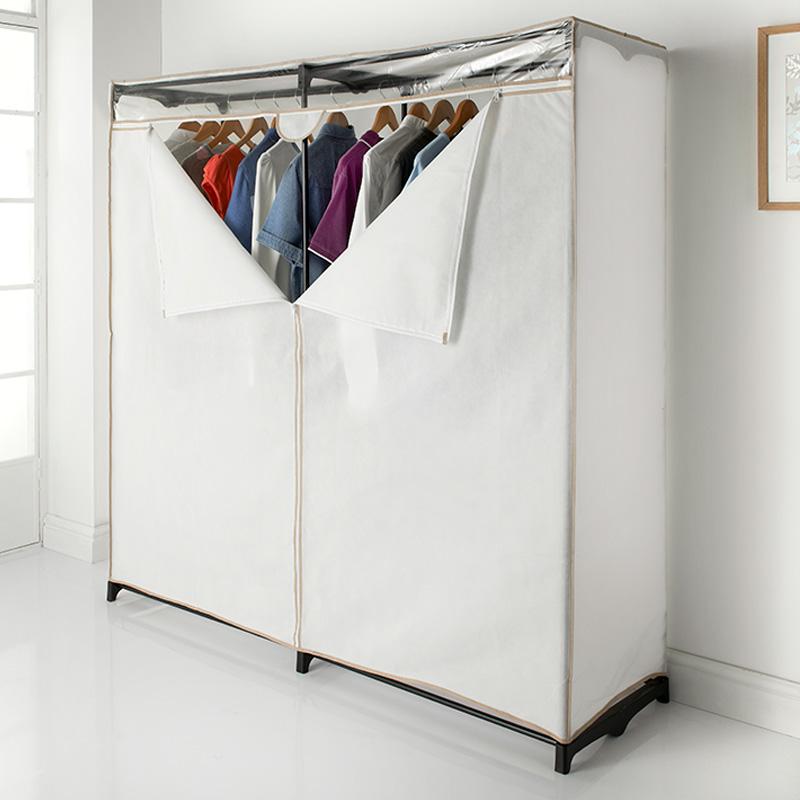 Wide Double Wardrobe  Storage Bedroom Furniture  BM