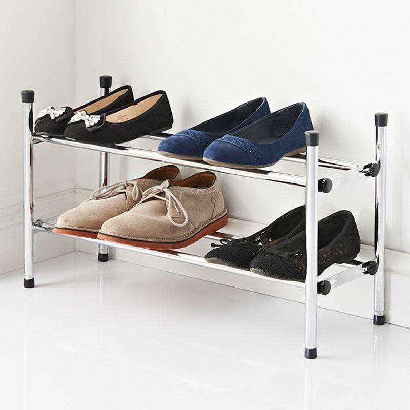 spaceways extendable 2 tier shoe rack