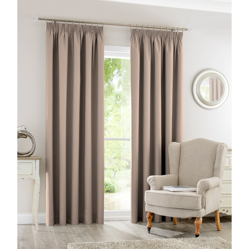 Silentnight Blackout Fully Lined Curtains 66 x 90  Home