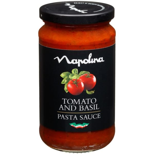 Napolina Pasta Sauce 440g Tomato Basil Sauces BM