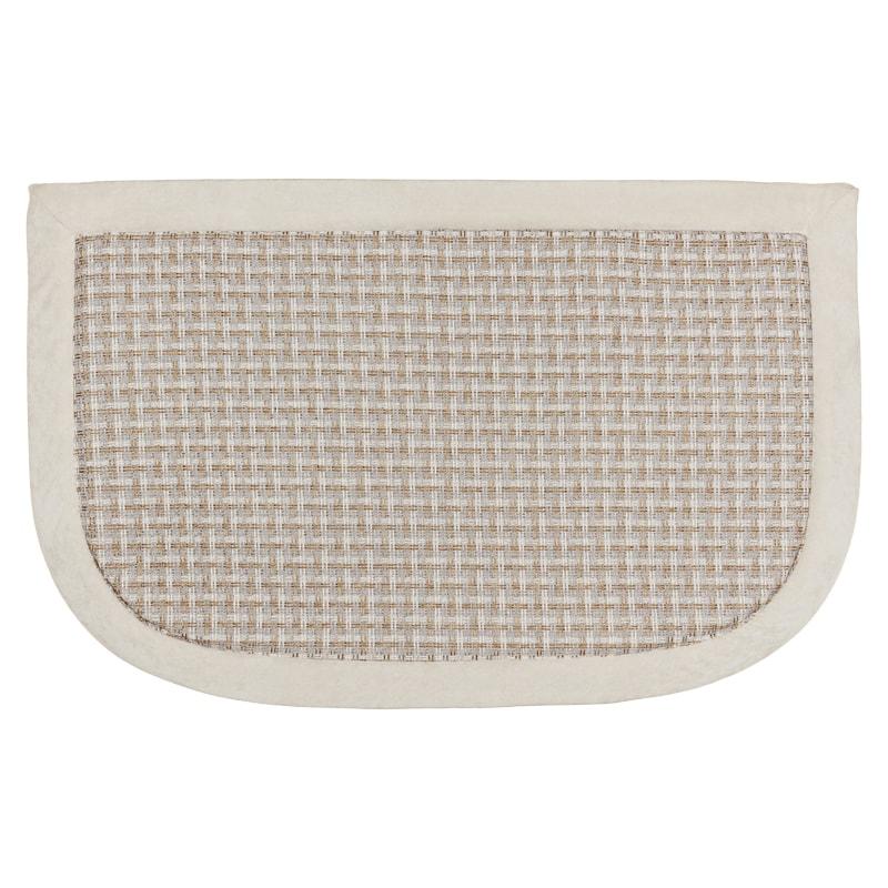 memory foam kitchen mats essentials calphalon beldray mat cream b m 324501 semi circle
