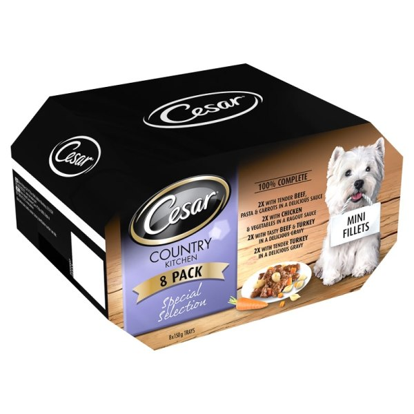 Cesar Country Kitchen Dog Food - 8 X 150g &