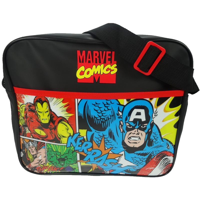 kitchen food preparation table tables & more marvel comics messenger bag | kids bags & backpacks - b&m