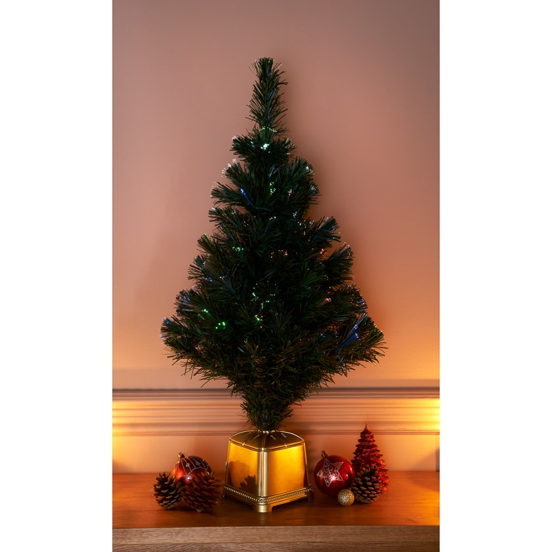Fibre Optic Christmas Tree 80cm Christmas Trees BampM