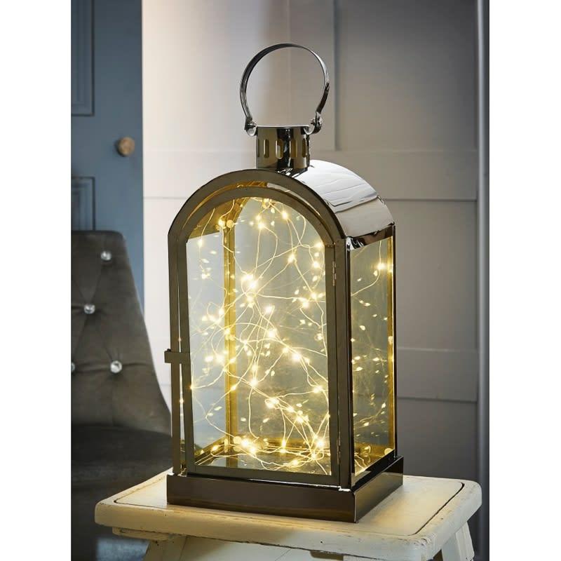 Micro LED Light Lantern Black Nickel Lighting BampM
