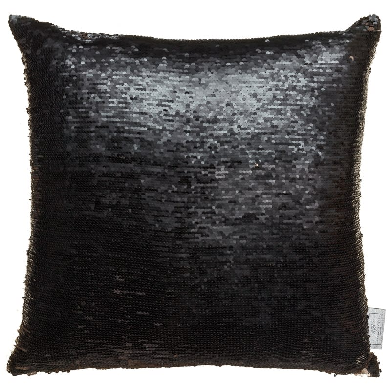 play kitchen for toddler modern cabinets reversible sequin cushion - gold & black | cushions b&m