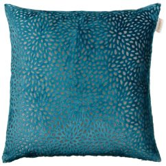 Next Home Living Room Accessories Decorating Ideas Photos Westminster Velvet Oversized Cushion - Teal | Cushions B&m